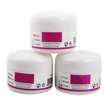 3Pcs/set New Clear Pink White MIX Colors Nail Art Acrylic Powder Crystal Nail Polymer(China (Mainland))
