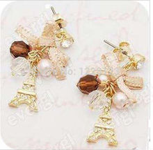 Hotportgift Fashion Jewelry Eiffel Tower earring for woman and teenage girl(China (Mainland))