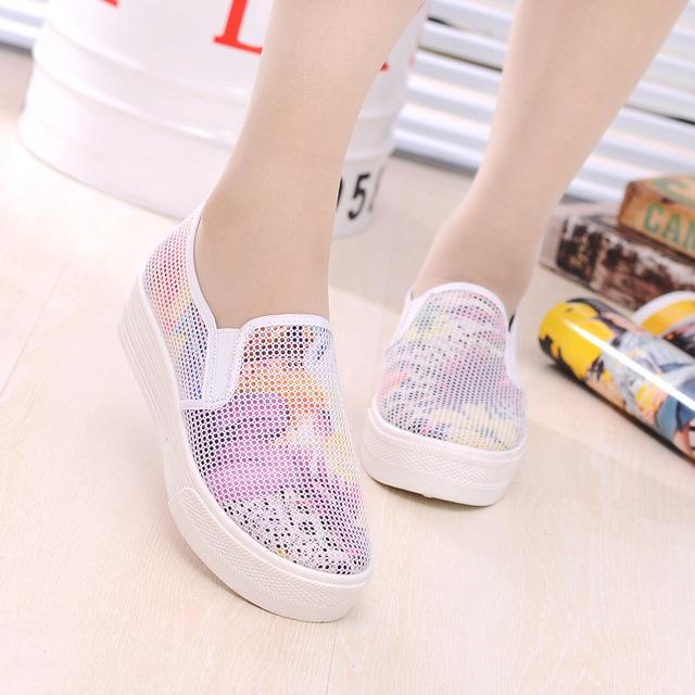 Бесплатная доставка цветочные платформы холстины женщин туфли-холст - на свободного ...