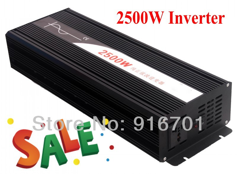 DHL FEDEX FREE SHIPPING Hot selling! 2500W electric drill inverter pure sine wave inverter (CP-P-2500W) Wind Generator Inverter<br><br>Aliexpress