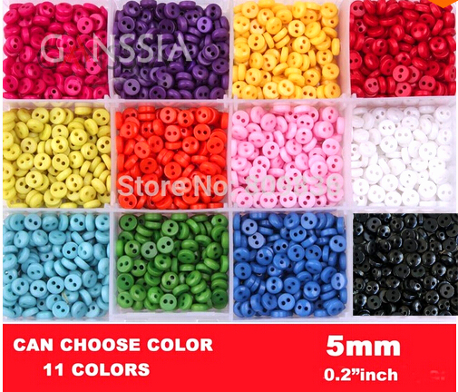 5mm Small size sewing bulk buttons Scrapbooking accessories Resin Button wholesale(SS-k1002)(China (Mainland))