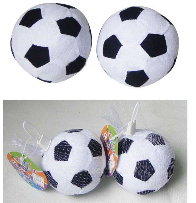 Toddler Baby Soft Cloth Bell Ball Sound Educational Toys, Indoor Soft Soccer Ball 3.5inch football White/yellow(China (Mainland))
