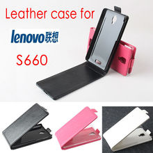 hot sale PU leather lenovo s660 Case up down style free shipping with tracking NO.