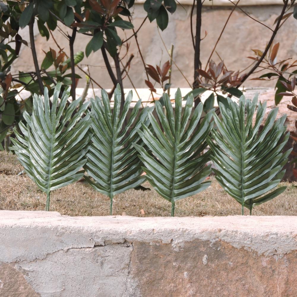 sommer neue 50 st ck staubblatt 40cm stoff hochzeit wohnkultur diy k nstliche palme pflanze. Black Bedroom Furniture Sets. Home Design Ideas