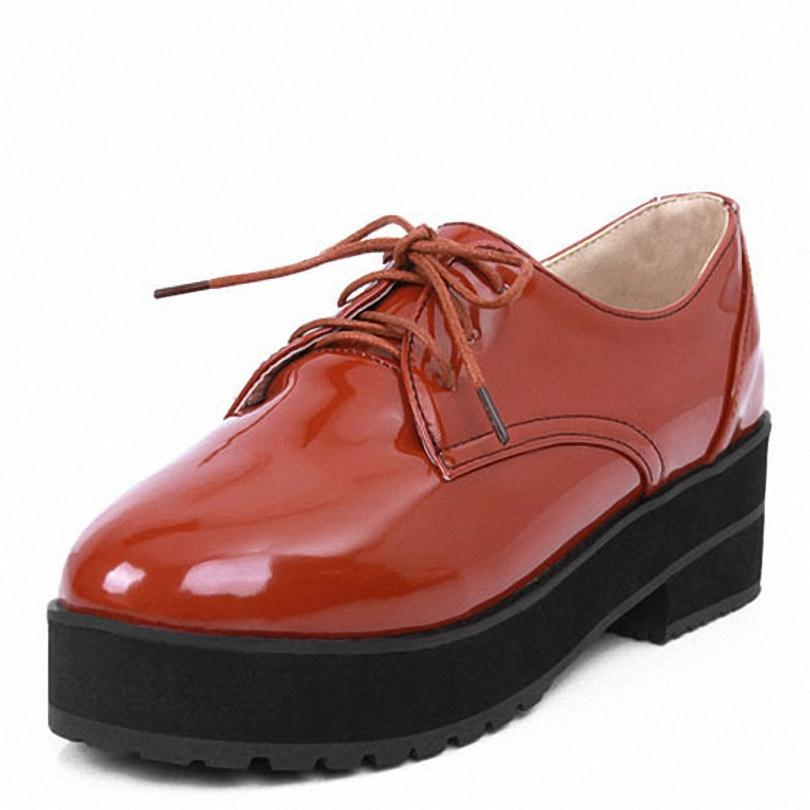 Lace Up Women Oxford Shoes Size34 39 Black Pink Brown Oxford Shoes Spring And Autumn Date ...
