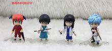 Collectibles Good PVC Silver Soul Action Figure Gintama Anime Kagura Sakata Gintoki Kotarou Model Toy Top Gift Full Set S078