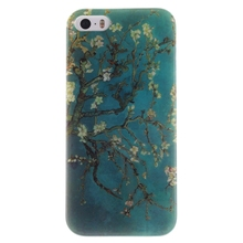 Luxury phone cover For Iphone 5 5S Apricot Blossom Tree Durable Soft TPU Case cover For Iphone 5 5S mobile phone shell