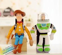 Free Shipping Toy Story Figures Stuffed 30CM Buzz Lightyear/40CM Cowboy Police Woody Plush Toys Doll Children Birthday Gifts