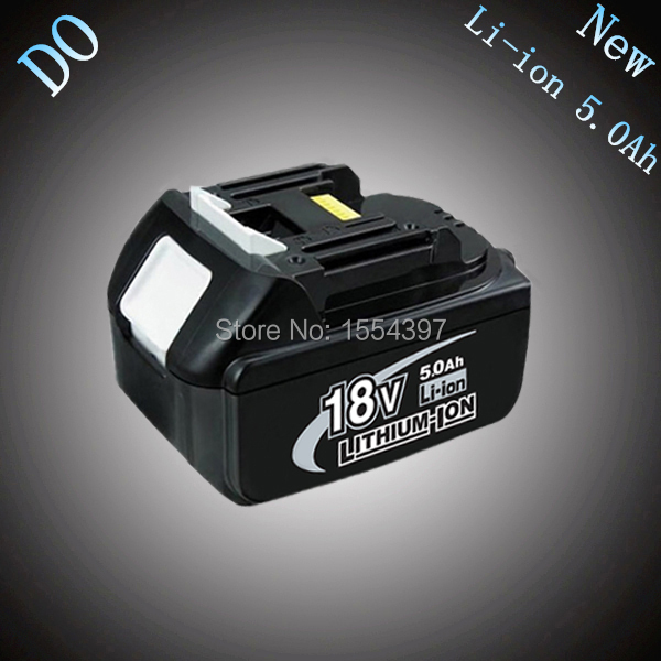 New 5000mAh Rechargeable Lithium Ion Replacement Power Tool Battery Packs for Makita 18V BL1830 BL1840 BL1850 LXT400 194205-3(China (Mainland))