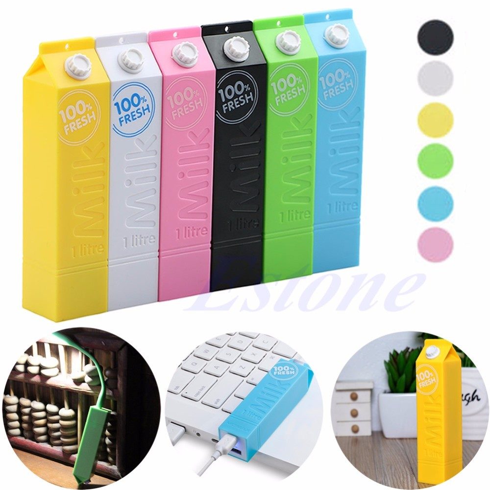 image for F98 2016  NewestPortable External Milk Carton Box 2600mAh Power Bank B