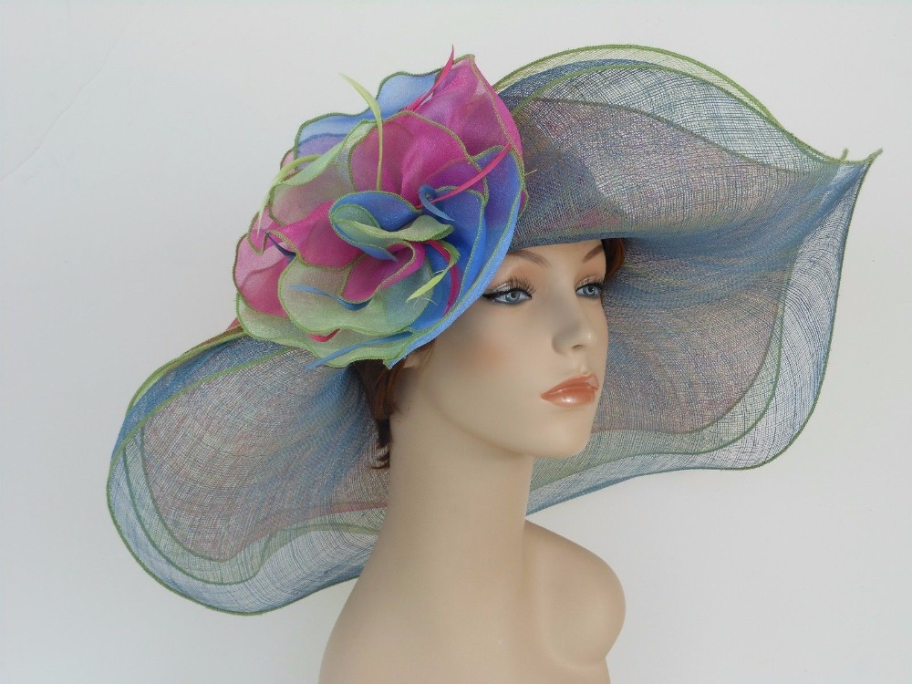 New Woman Church Derby Wedding Sinamay 3 Layers Dress Hat 2397 Multi(China (Mainland))