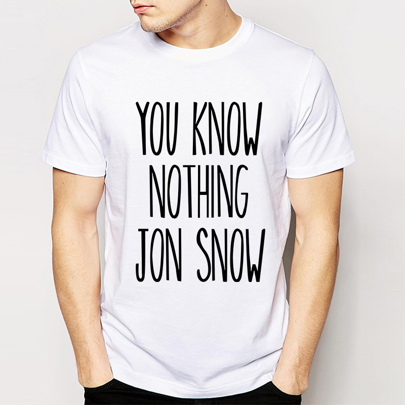 Buy game of thrones you know nothing jon Where can i buy game of thrones t shirts