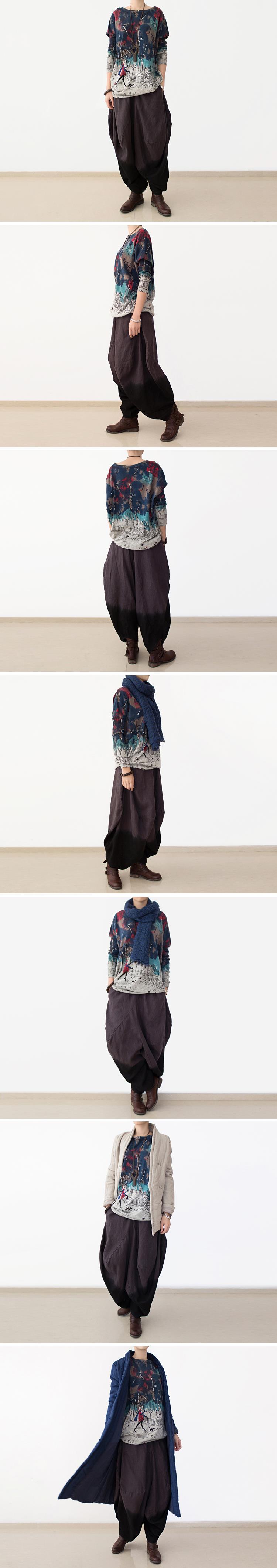 2016 летний стиль женщины с коротким рукавом шею свитера широкий Большой размер корейской версии печать Batwing рукав свитера