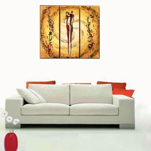 Hand painted picture oil painting canvas modern abstract nude figures wall hanging office living room decoration unframed 265(China (Mainland))
