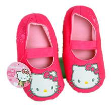 Dibujos animados de color rosa paquete con zapatillas niño zapatillas de casa zapatillas de interior cálido invierno navidad para los zapatos inferiores suaves CSC2117(China (Mainland))