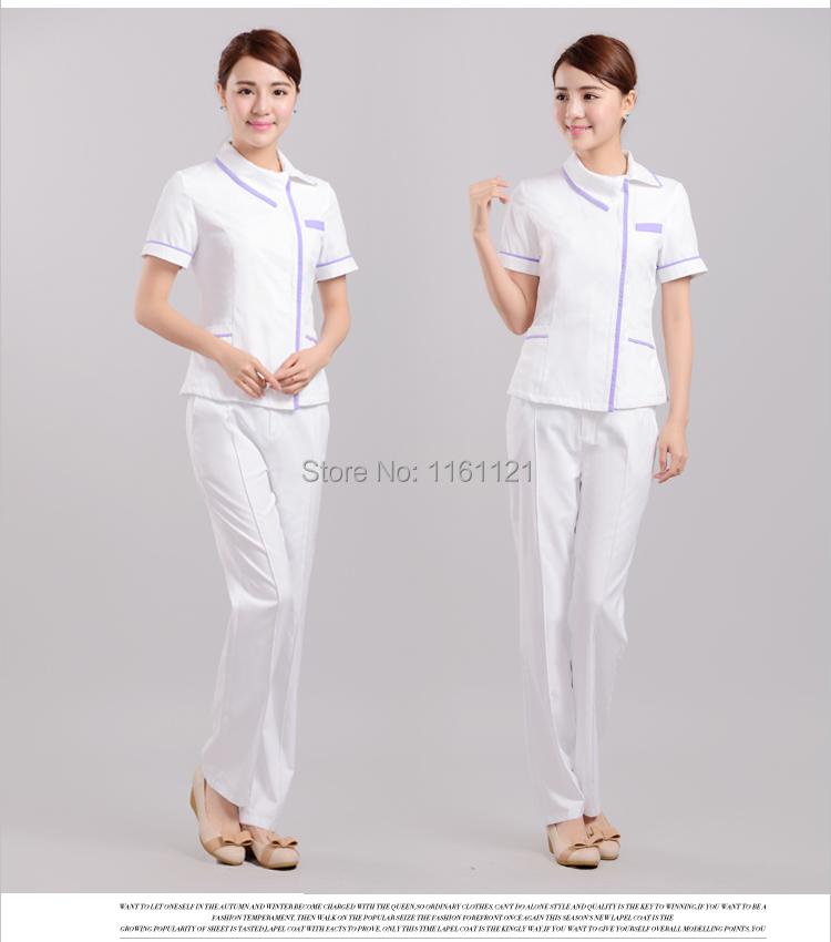Nursing Scrubs 2015 New Medical Suit Lab Coat Beauty Salon Scrub Nurse Working Set for Dental Clinic , Two Pieces Uniform H007(China (Mainland))