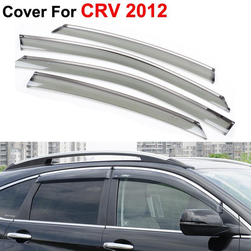 Car Styling Accessories PC Guard Rain Shield Window Visor Honda CRV CR-V 2012 2013 2014 Stickers Side Covers - AUTO mechanist store