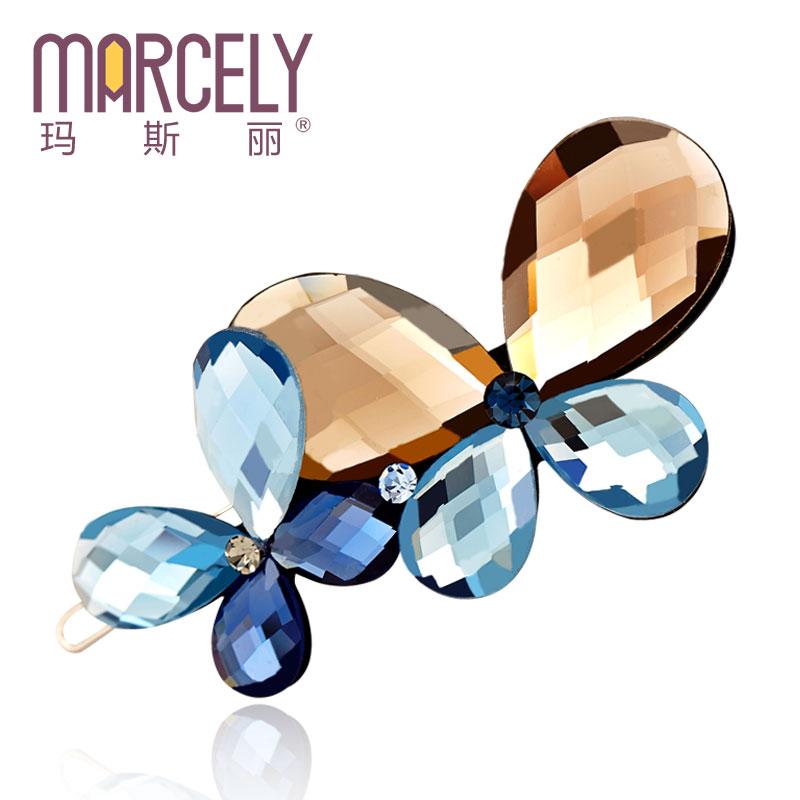 [free shipping] 2015 new hair accessories hairpins hair clips butterfly rhinestone hair jewelry tiara hairpins hair ornaments(China (Mainland))