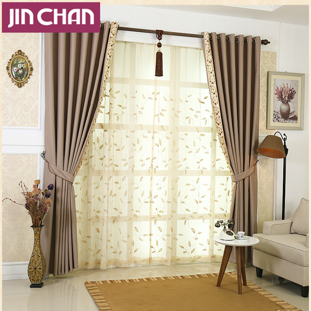 Luxury window blackout curtains for living room the bedroom kitchen