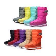 Marca 2016 CALIENTE! moda Caliente antideslizante botas de Nieve Botas de Invierno Las Mujeres de Algodón acolchado Zapatos de Nieve Negro y Azul y de Color Caqui y gris y Púrpura y Rojo(China (Mainland))