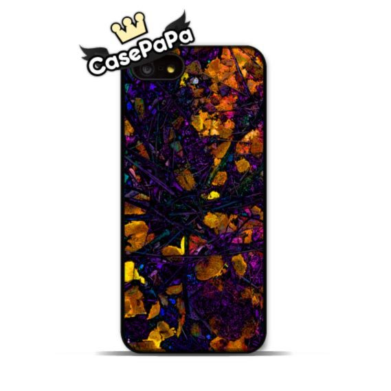 Deep Purple And Golden Leaves Case For iPhone 6 6 Plus 5 5s 4s 5C For iPod 5 4 Classic Abstract Ultra Phone Cover(China (Mainland))