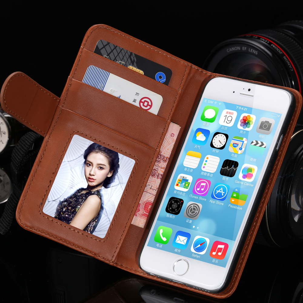 se Retro Luxury PU Leather Flip Capa Case For Apple iPhone 5C 5S se 5G Wallet Card Photo Holder Cover Full Protect CellPhone Bag(China (Mainland))