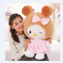 Cute Cookies Hello Kitty Cat doll Lace cushions birthday gift wholesale bebe Sleep Doll appease Baby Plush Toys(China (Mainland))