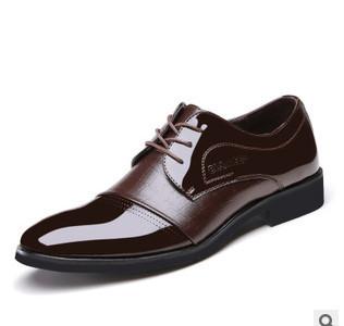 Горячее платье обувь для мужчин мода бизнес искусственная кожа зашнуровать обувь ...