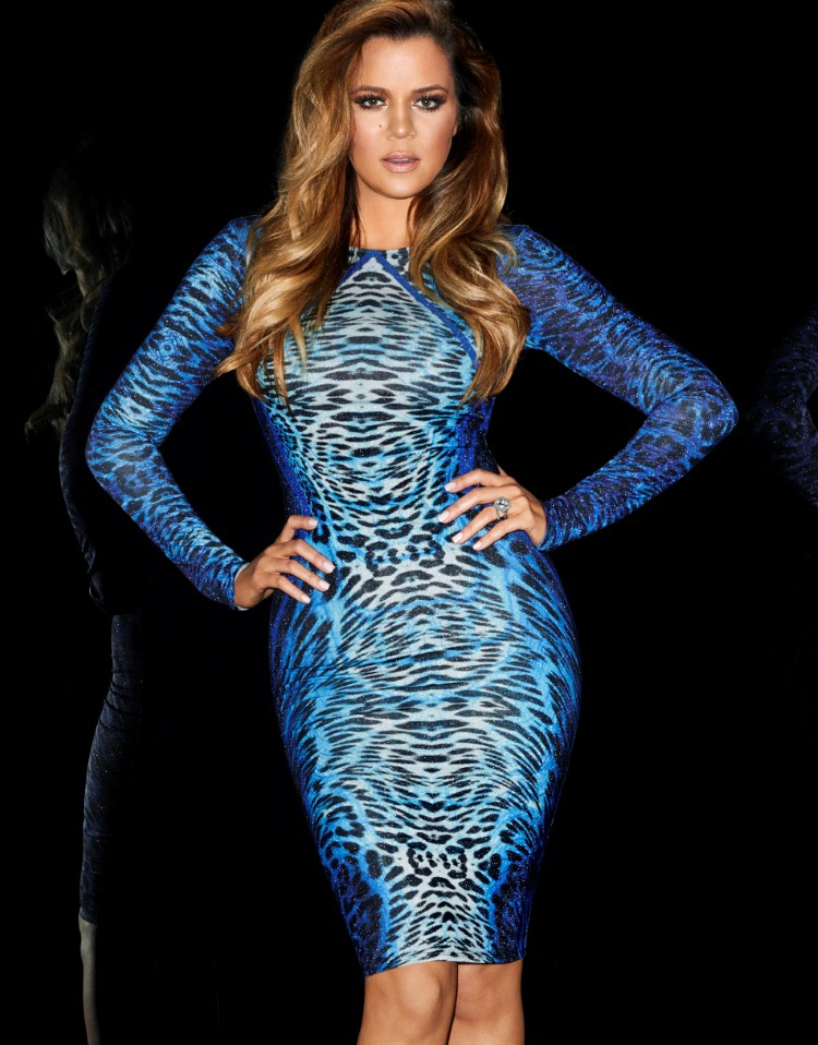 Ladies Blue Leopard Dress Kim Kardashian Celeb Style Bodycon Midi Dress In Dresses From Women 39 S