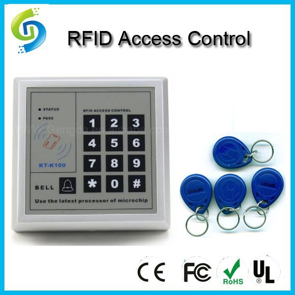 electronic entry lock rfid access control system with keypad number support password in access. Black Bedroom Furniture Sets. Home Design Ideas
