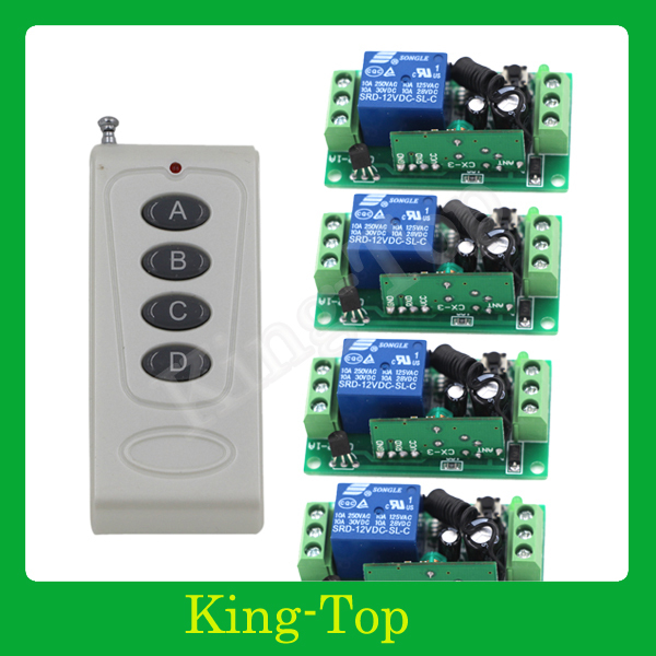 12v 4ch relay wireless rf universal remote control garage for 12v garage door remote