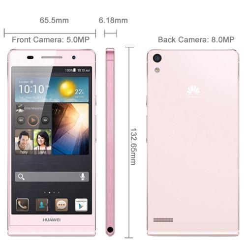 3G Original Huawei Ascend P6 P6S Hi3620 Quad Core 1 6GHz 4 7 inch Android 4