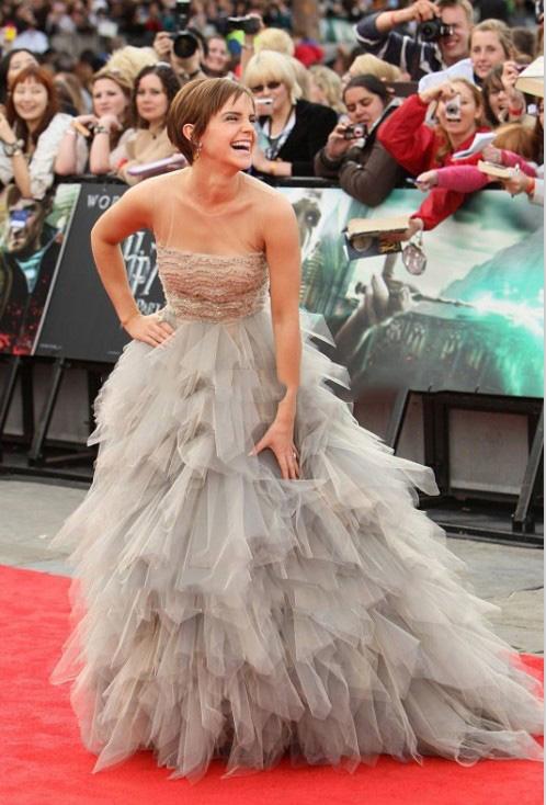 Emma Watson Mismo Estilo Vestido de Noche de 2017 Por Encargo de la  Cucharada Cuello Sin