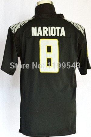 Kids #8 Marcus Mariota Youth Jersey Boys Children Black For TQJ Stitched Size 8Y-18Y College Football Jerseys(China (Mainland))