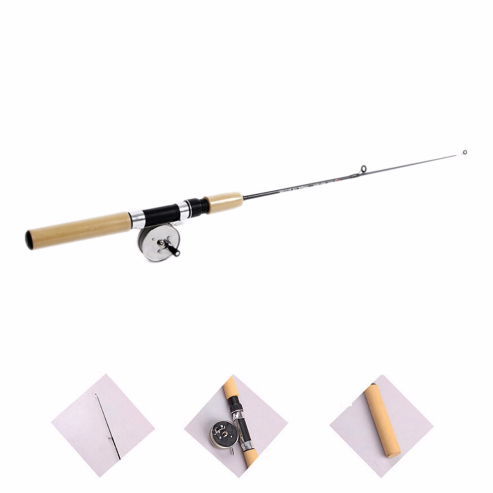 Mini curtain rods - Portable Winter Ice Fishing Rod Pen Valve Pole Lure Mini Tackle Mini Rods Telescopic Fishing Accessories 80cm