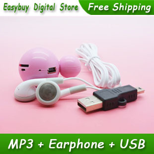 1pcs/lot New Style High Quality Mini Mickey Mouse Card Reader MP3 Music Player Gift MP3 Players With Earphone&Mini USB(China (Mainland))