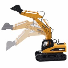 HuiNa Toys 1550 15 Channel 2.4G 1/12 RC Metal Excavator Charging 1:12 RC Car With Battery RTG(China (Mainland))