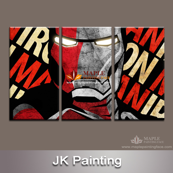 Giclee Printed Digital Artwork of Cartoon Iron Man canvas prints for kid's Unique Decor Gift drop ship canvas paintings China(China (Mainland))
