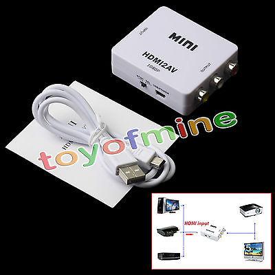 HDMI to RCA Composite Video Audio AV CVBS Adapter Converter 720p/1080p HDMI2AV(China (Mainland))