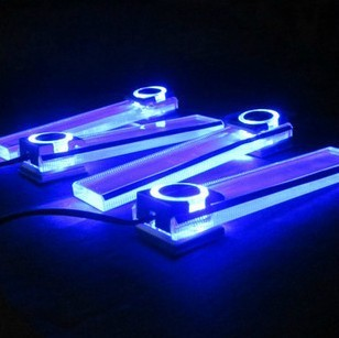 New Arrival! Blue Car 12V 4 in 1 Charge LED Car Parts Accessories Interior Decoration Floor Decorative Light. Free & Drop Ship