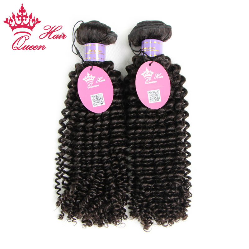 Queen Hair Top Quality Kinky Curly Natural Color 100% Virgin Malaysian Human Hair Weft ,No Shedding No Tangle<br><br>Aliexpress