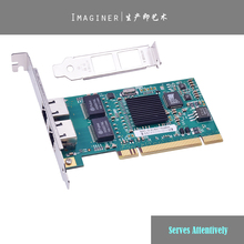 PCI 32bit Dual-port Gigabit Ethernet 8492MT 82546EB/GB 10/100/1000Mbps RJ45 Sever Network Card Support RouterOS.(China (Mainland))