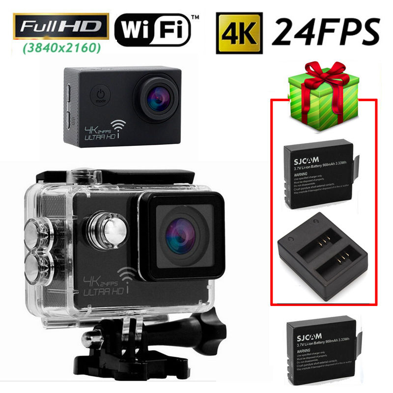 Фотография Free shipping!SJ8000 4K 24FPS WiFi Sport Action Car Camera DVR+Free USB Dual Charger/Battery