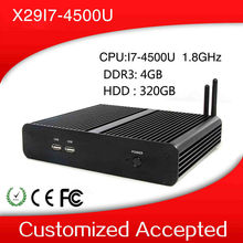 Support wireless keyboard and mouse and touch screen X29-i7 4500u mini desktop computer thin client Linux 4gb ram 320 hdd(China (Mainland))