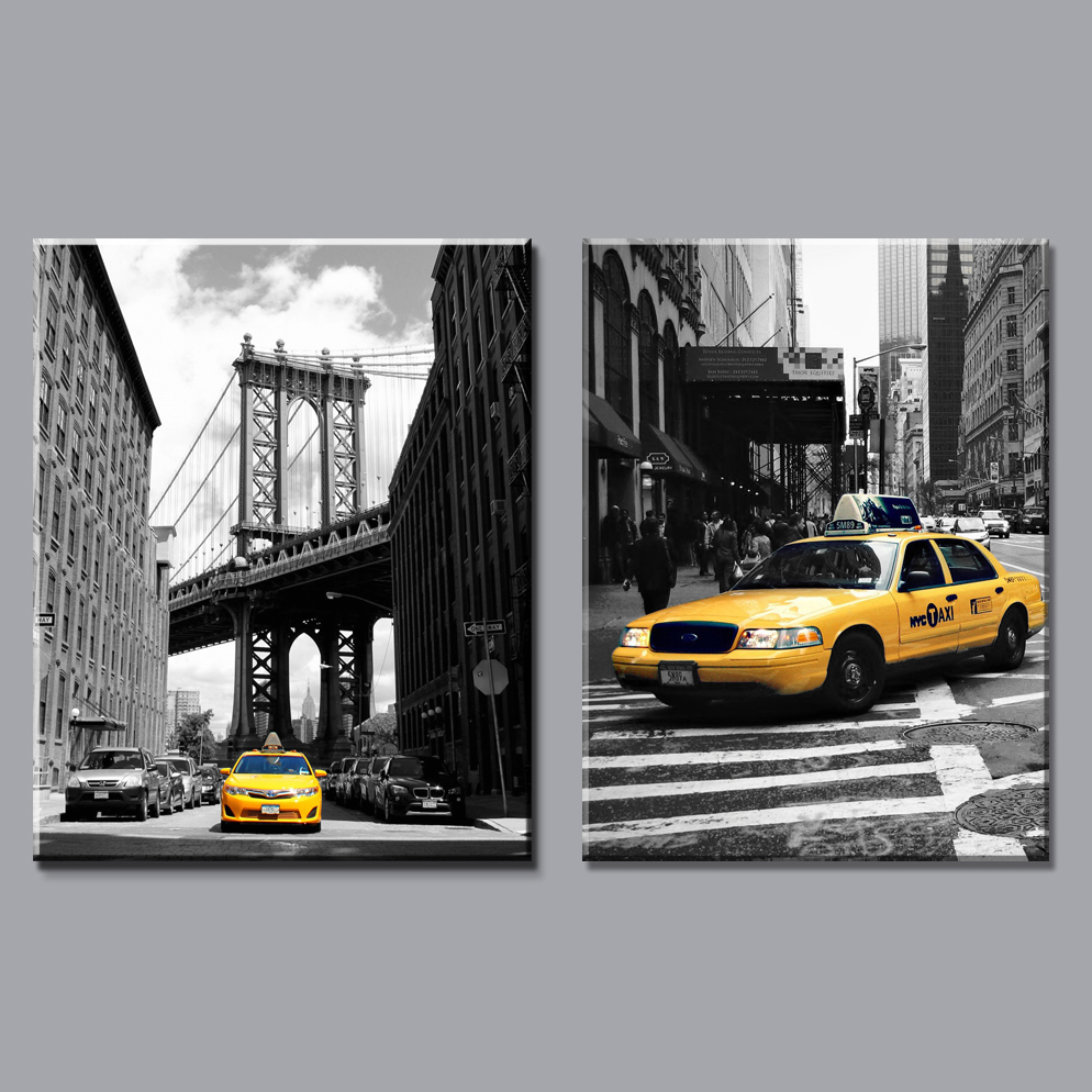 Home decor modern canvas painting new york city pictures ...