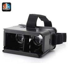 free shipping 3D Glasses ColorCross Universal Google Virtual Reality 3D Video Glasses for 4~6″ Smartphones Oculus