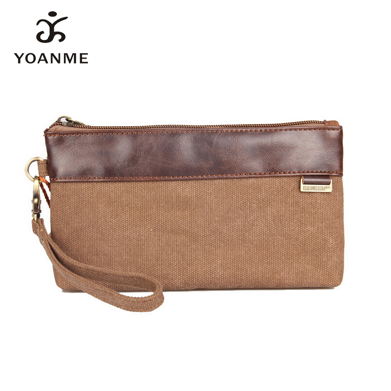 YOANME New OBM Unisex Casual Patchwork Wristle Couples Bag Canvas Small Coin Money Bag Teenager Long Durable Clutch SY1329(China (Mainland))