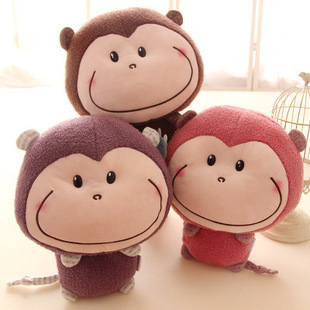 Cute Design Kawaii Big Mouse Monkey Soft Stuffed Plush Apes Toy 30cm One Piece Kids' Birthday Gift(China (Mainland))