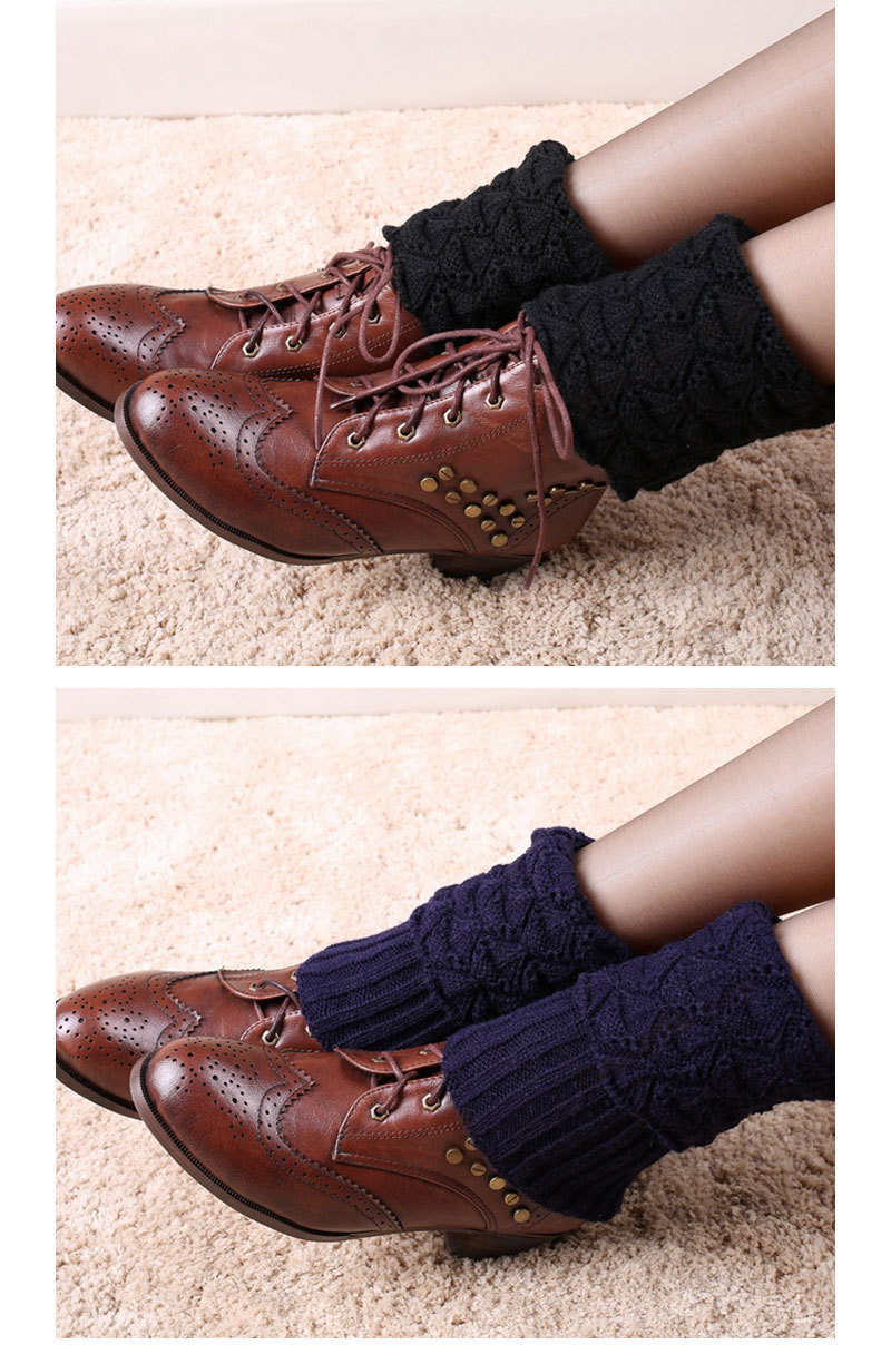 Hot Sale New Women Ladies Crochet Knitted Shell Design Boot Cuffs Toppers Knit Leg Warmers Winter