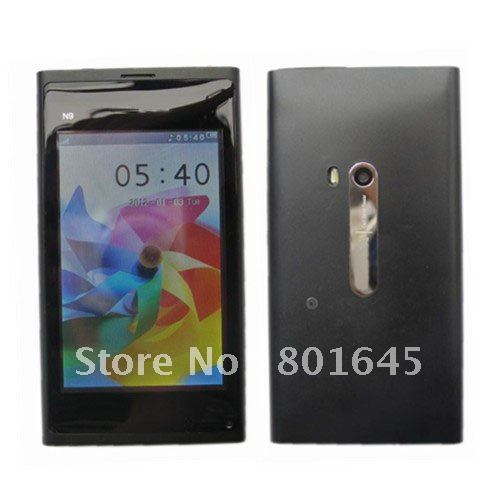 "N9  3.5"" Touch Screen single SIM dual camera  Russian and Polish Menu multilanguage cell phone"